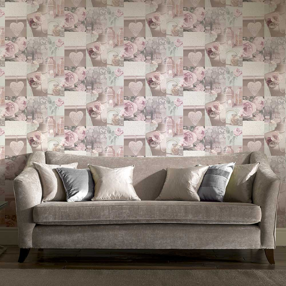 Charlotte Wallpaper - Blush - by Arthouse