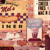 Arthouse American Diner Multi Wallpaper