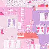Galerie Street Life Pink & Lilac Wallpaper