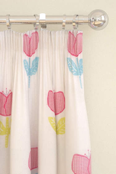 Clarke & Clarke Ava Pink Curtains - Product code: F0663/01