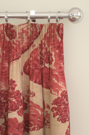 Brewers Home Goodwood Red Curtains - Product code: BF20001