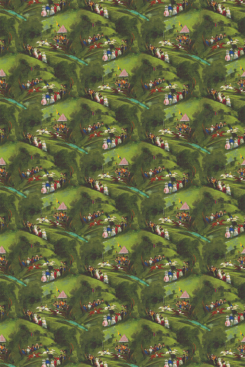 Plumpton Fabric - Green - by Brewers Home