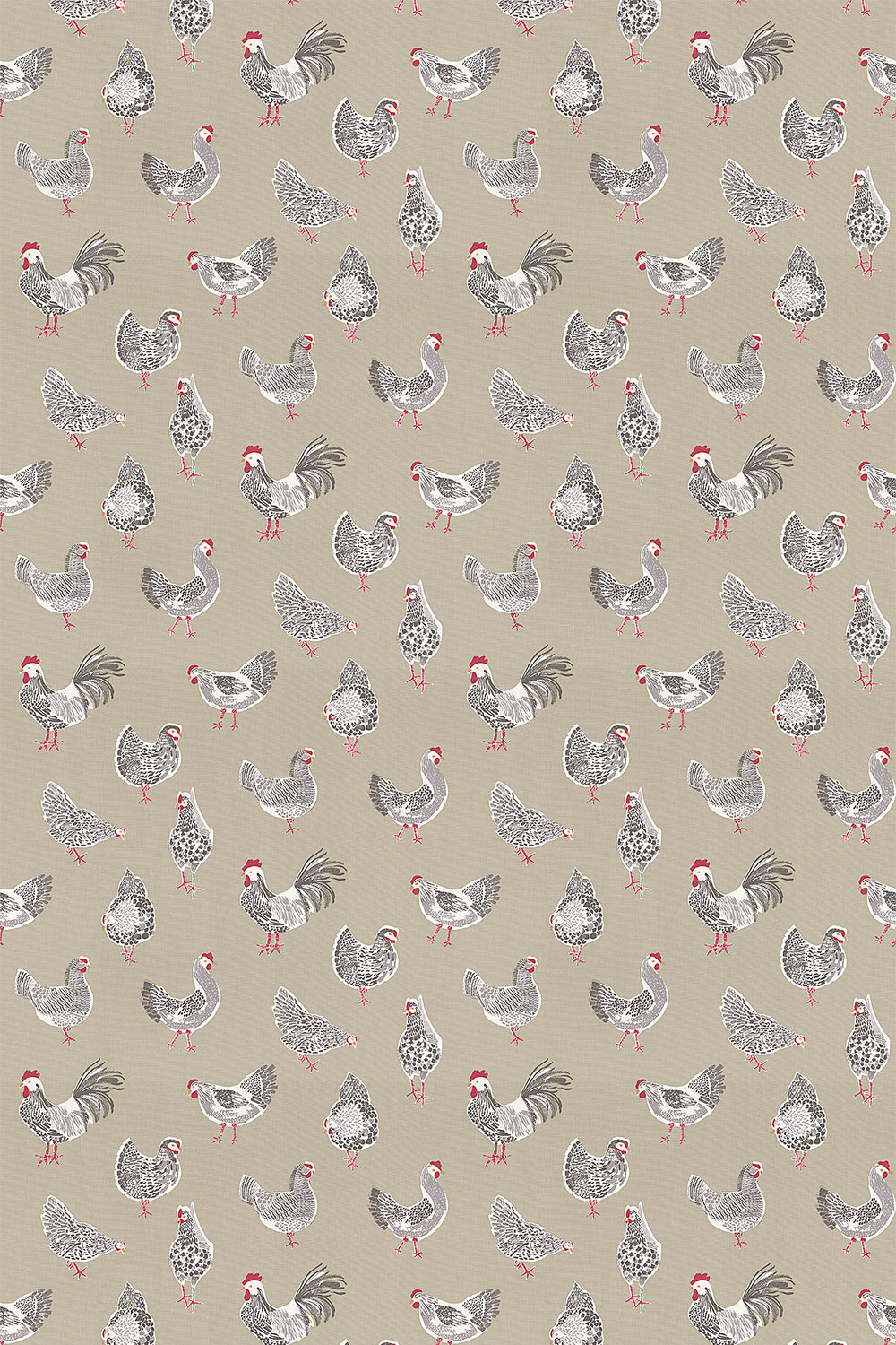 Rooster Fabric - Sage - by Studio G