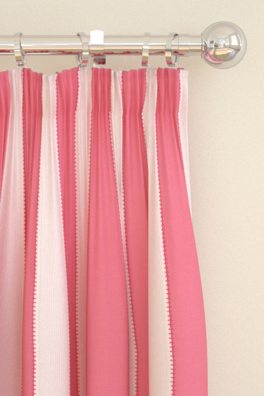 Clarke & Clarke Corduroy Stripe Pink Curtains - Product code: F0666/02