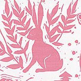 Clarke & Clarke Hedgerow Pink Fabric