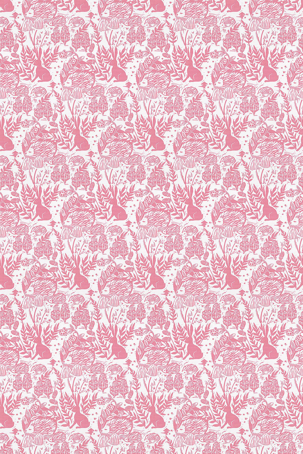 Clarke & Clarke Hedgerow Pink Fabric - Product code: F0673/01