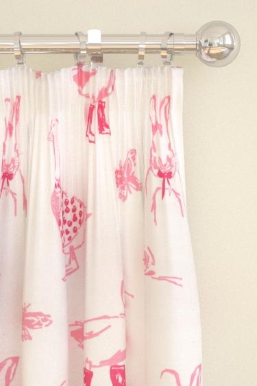 Clarke & Clarke Jemima Pink Curtains - Product code: F0664/01