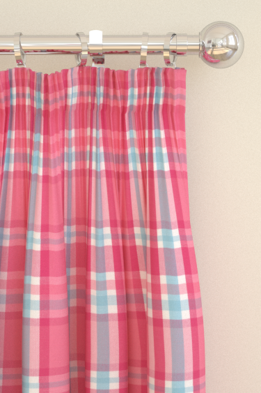 Clarke & Clarke Jess Pink Curtains - Product code: F0657/02
