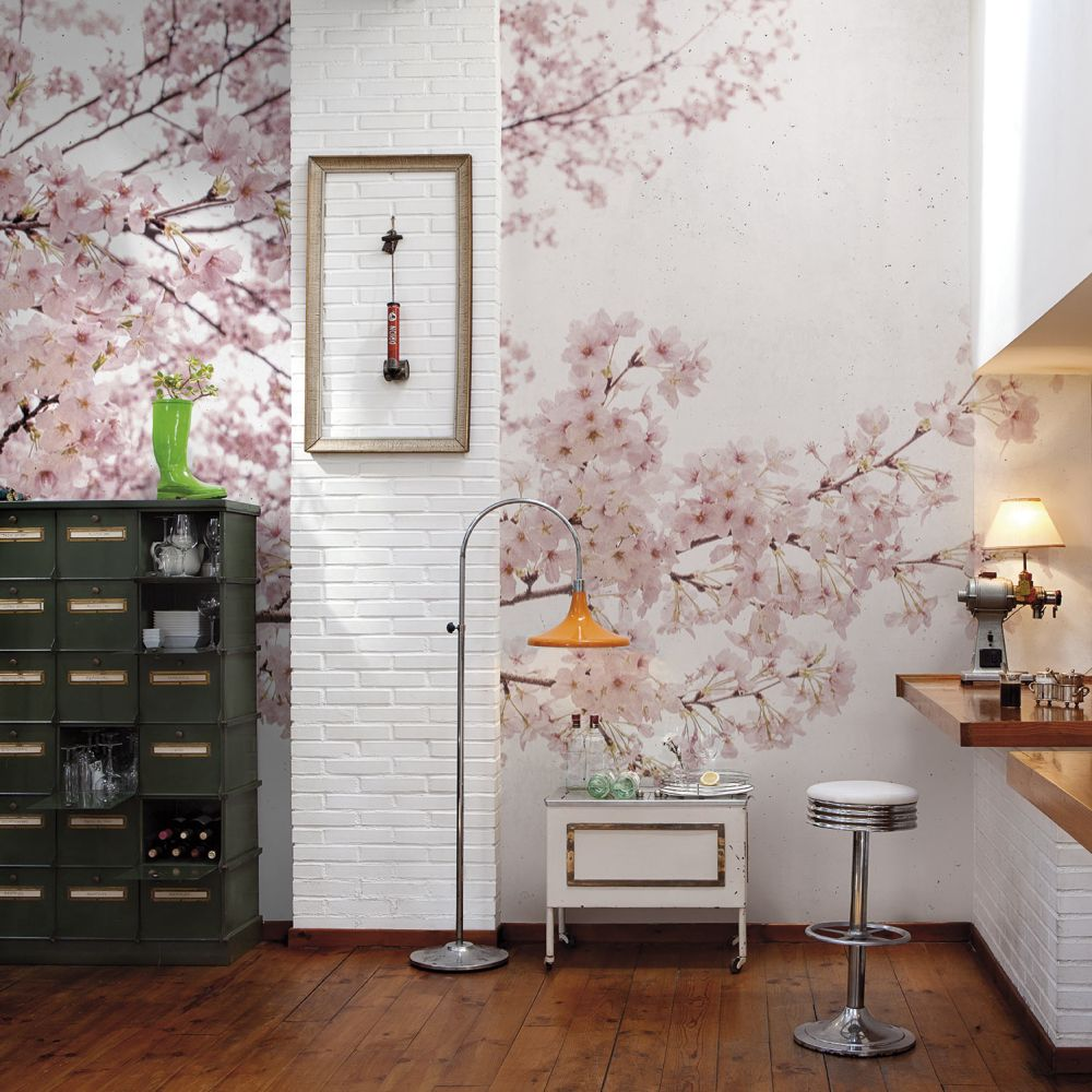 Almond Tree Mural - Pink - by Coordonne