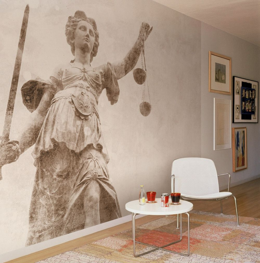 The Stones Sculpture Justice Mural - Neutral - by Coordonne