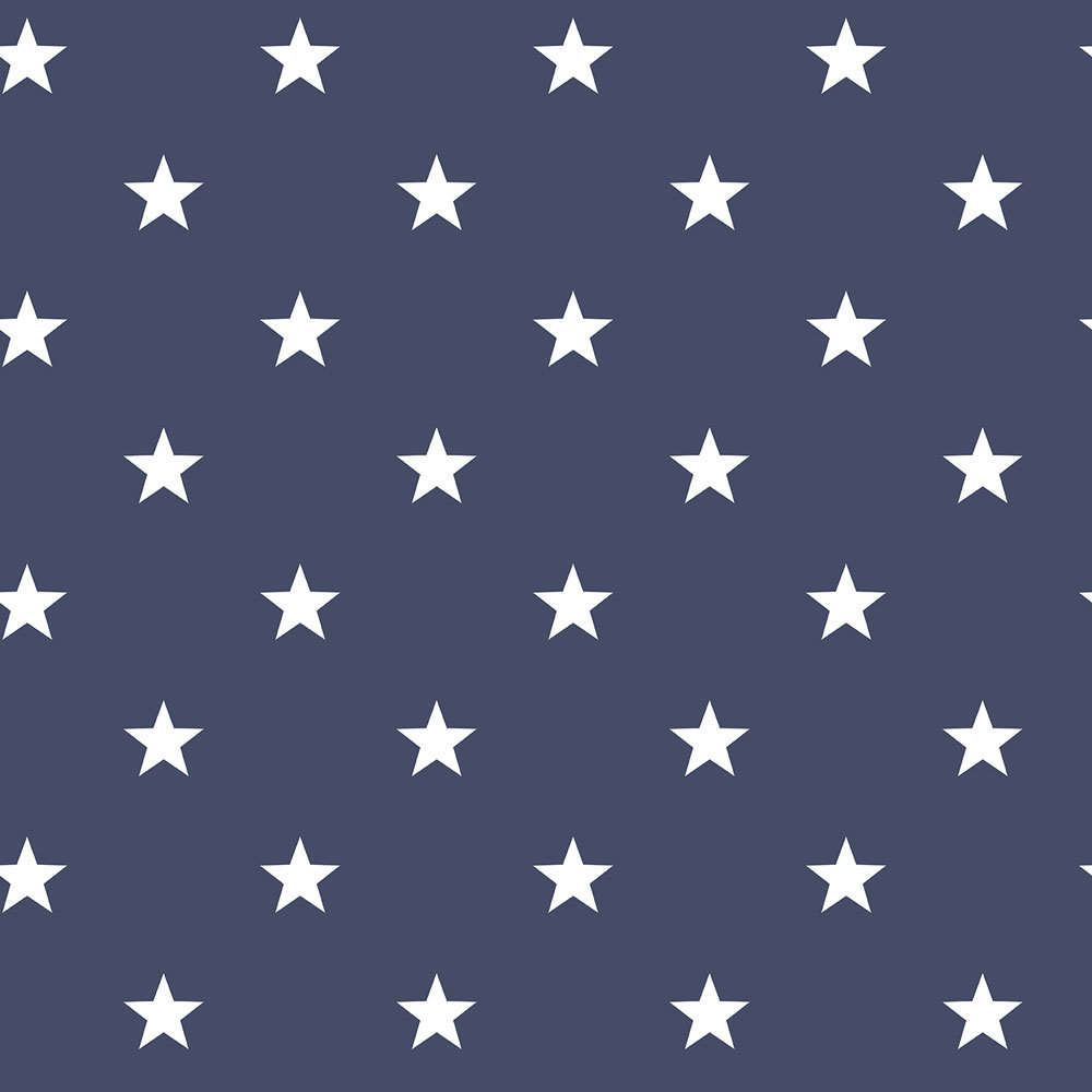 Stars by Galerie - Midnight Blue : Wallpaper Direct