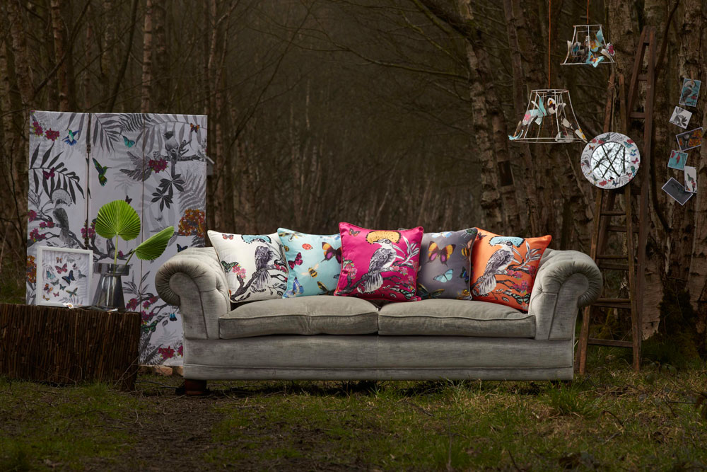 Arthouse Mystical Forest Cushion Pink - Product code: 008293