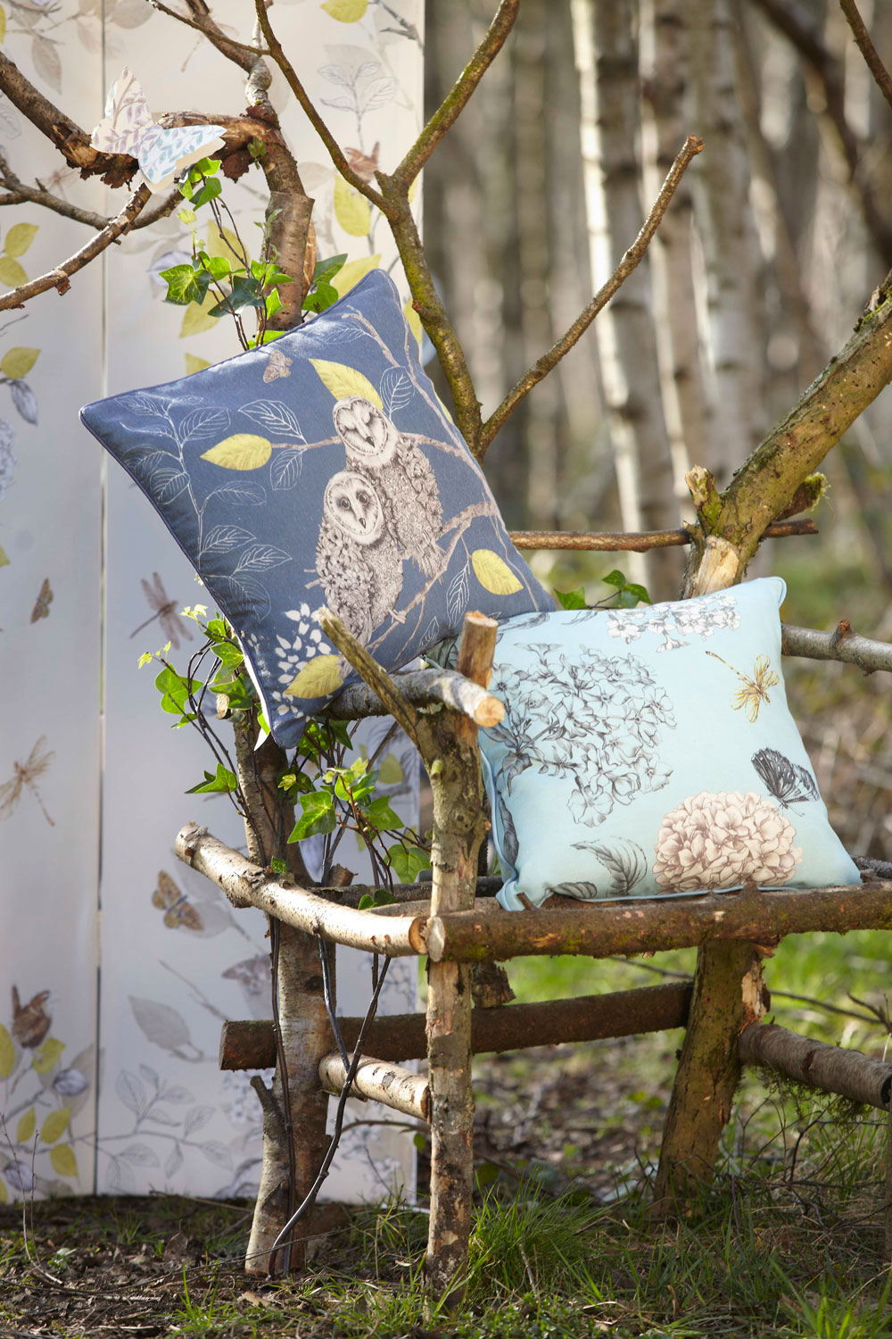 Arthouse Night Owl Cushion Duck Egg - Product code: 008296