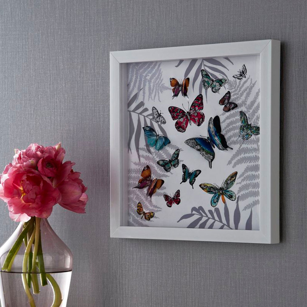 Arthouse Mystical Forest Filled Frame White Art - Product code: 004103