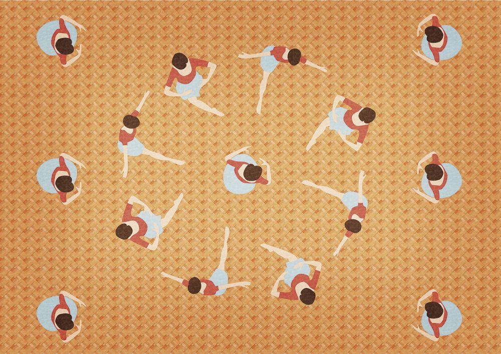 Coordonne Let's Dance Ballerinas Orange Mural - Product code: 4500061N