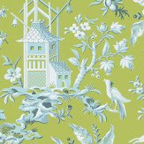 Thibaut Pagoda Garden Green Wallpaper - Product code: T14208