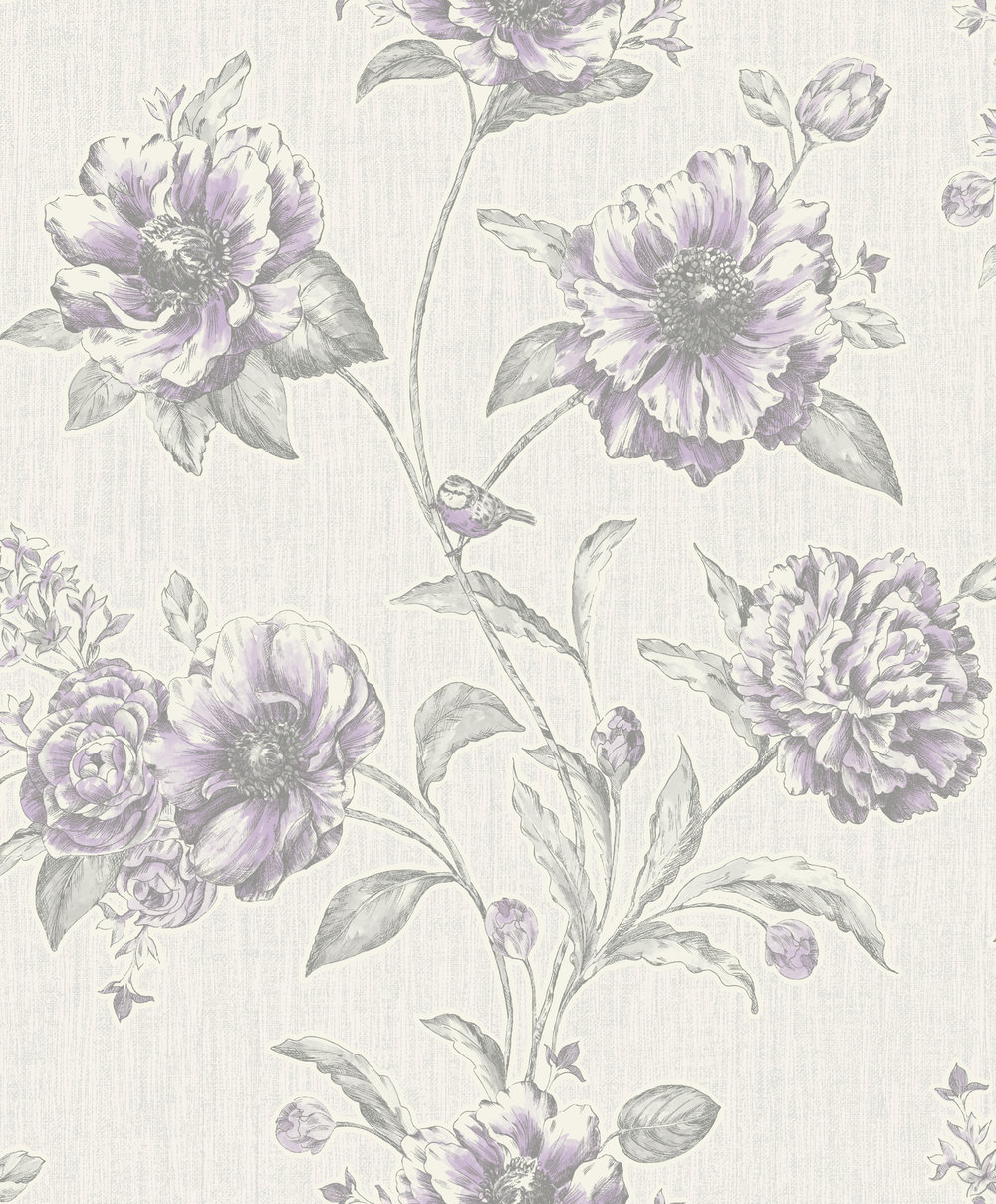 Albany Adela Purple Wallpaper - Product code: 75712
