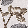 Jocelyn Warner Flora Grey Fabric