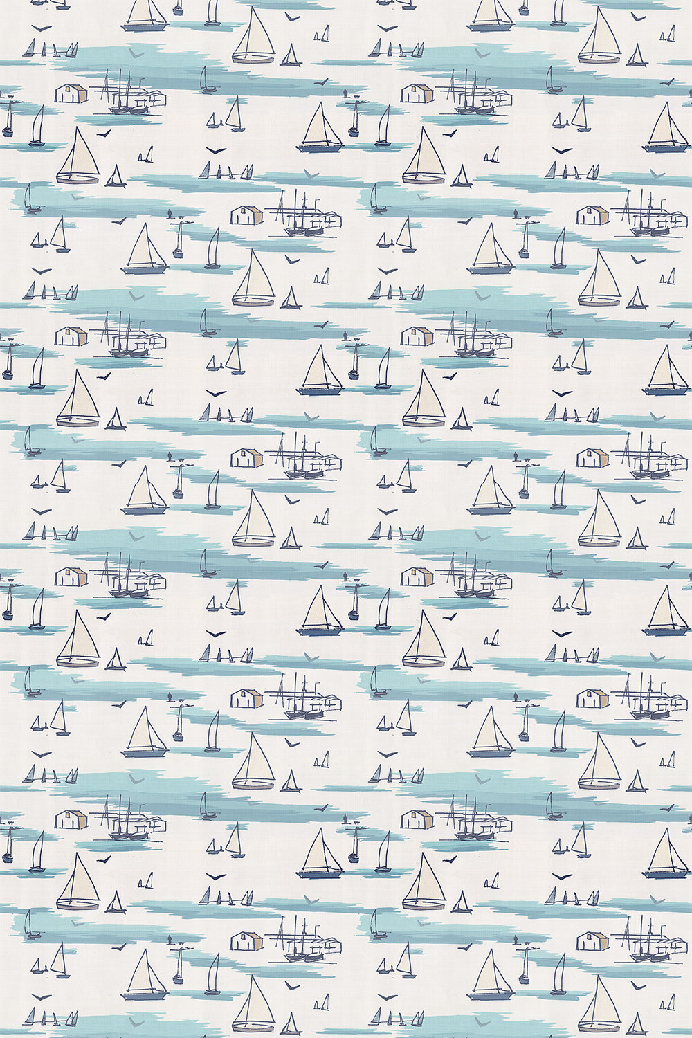 Clarke & Clarke Seashore Blue Fabric main image