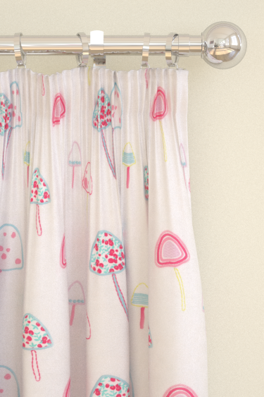 Clarke & Clarke Toadstools Pink Curtains - Product code: F0671/01