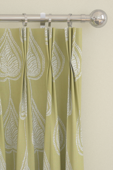 Gigi curtains by Harlequin - Pistachio : Wallpaper Direct