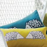 Scion Spike Knitted Cushion Kingfisher