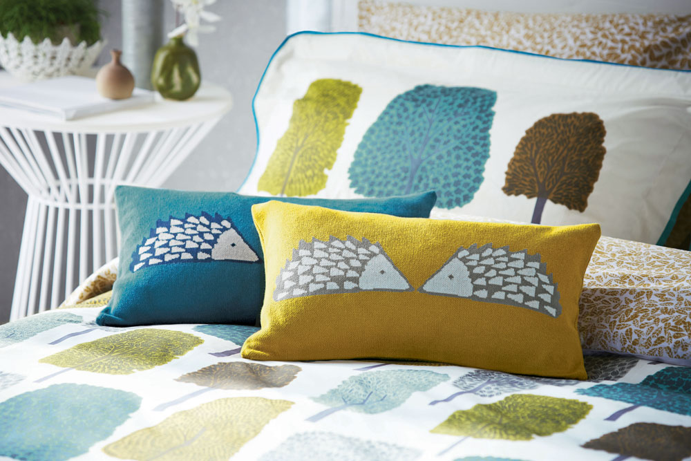 Spike Knitted Cushion Kingfisher - by Scion
