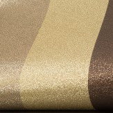 Albany Glitter Stripe Gold / Chocolate Wallpaper