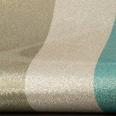 Albany Glitter Stripe Teal / Pewter Wallpaper