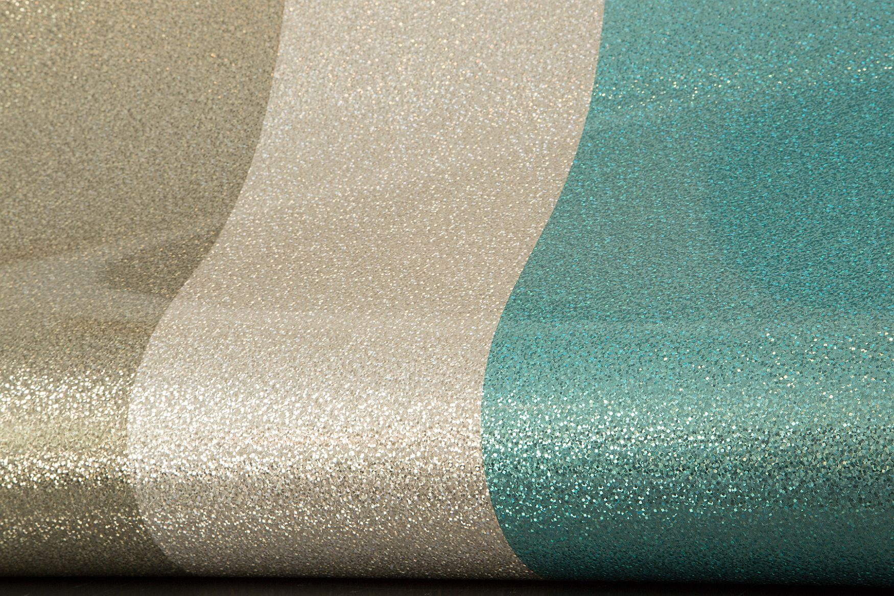 Glitter Stripe by Albany - Teal / Pewter : Wallpaper Direct