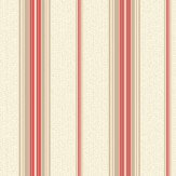 Albany Shiro Stripe Red Wallpaper