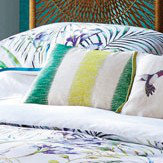 Harlequin Paradise Embroidered Cushion Lagoon