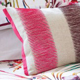 Harlequin Paradise Embroidered Cushion Flamingo