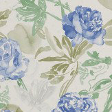 Coordonne Roses Blue Wallpaper