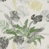 Coordonne Jungle Green / Grey Wallpaper - Product code: 4800025