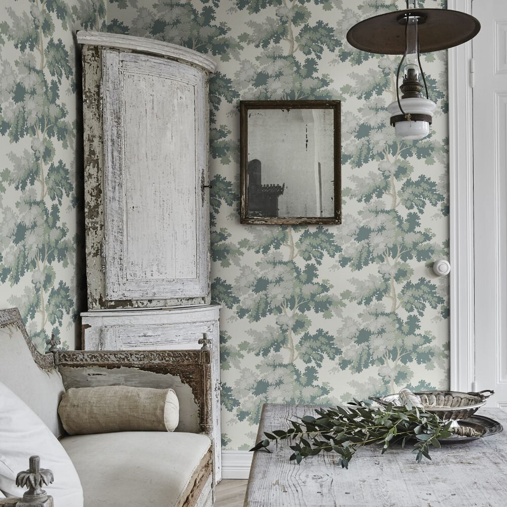 Raphael Wallpaper - Green  - by Sandberg