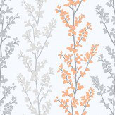 Galerie Branches Orange Wallpaper