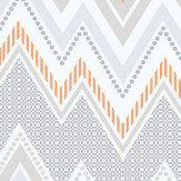 Galerie Tempo Zig Zag Orange Wallpaper