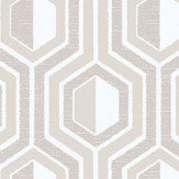 Galerie Hexagon Beige Wallpaper