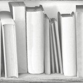 Albany Wooden Bookcase White & Grey Wallpaper