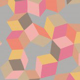 Cole & Son Puzzle Pink and Orange Wallpaper