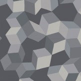 Cole & Son Puzzle Grey and Black Wallpaper