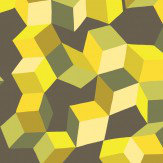 Cole & Son Puzzle Yellow and Black Wallpaper