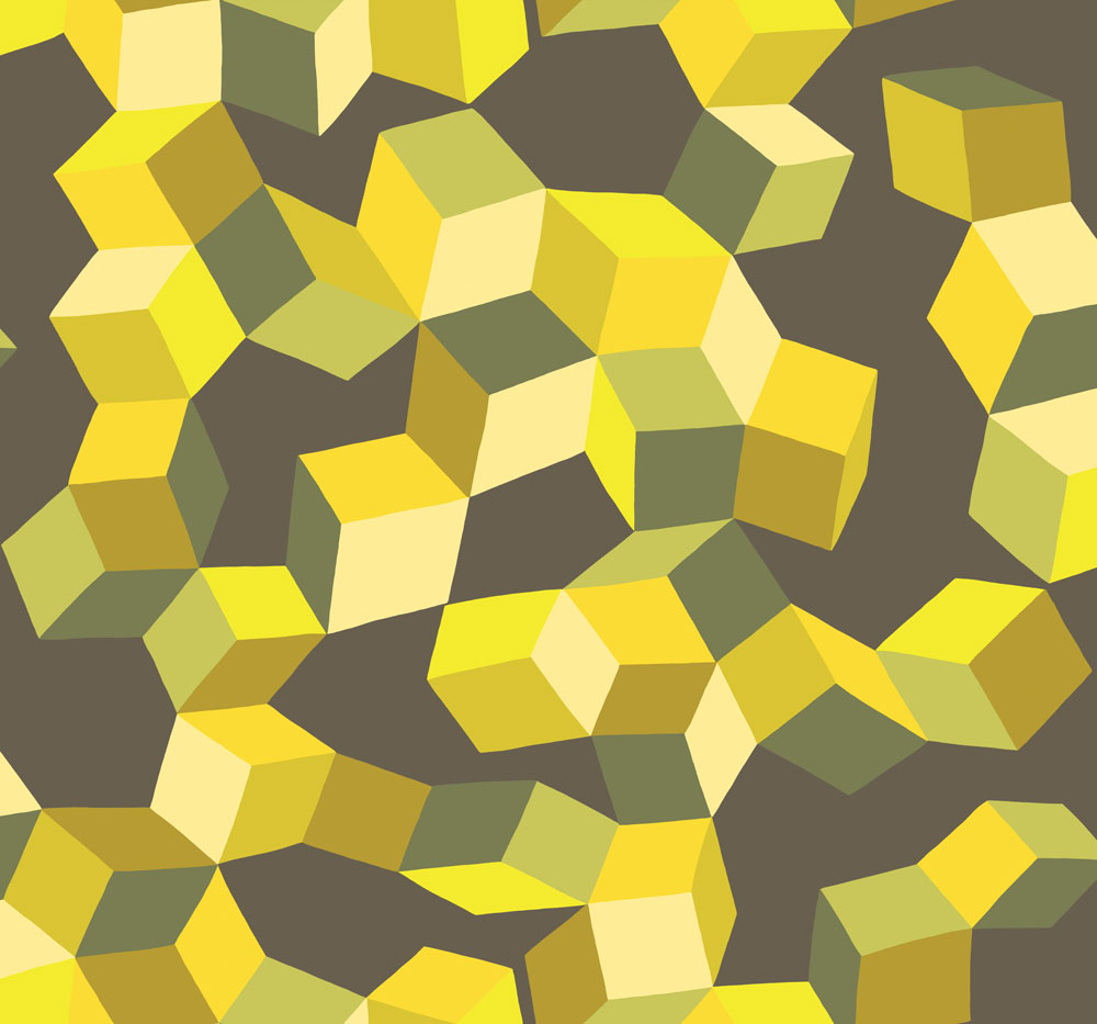 Cole Son Puzzle Yellow And Black Wallpaper Main Image