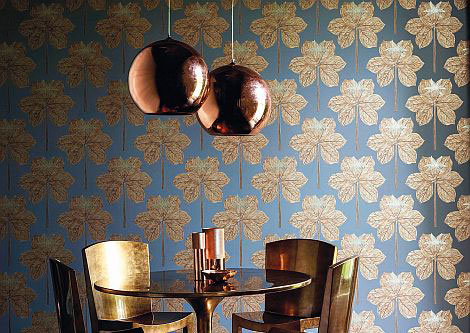 Harlequin Lovers Knot Russet Wallpaper