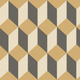 Cole & Son Delano Black and Gold Wallpaper - Product code: 105/7030