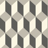 Cole & Son Delano Black and Grey Wallpaper - Product code: 105/7031
