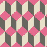 Cole & Son Delano Black and Pink Wallpaper - Product code: 105/7033