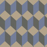 Cole & Son Delano Black and Blue Wallpaper - Product code: 105/7034