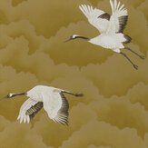 Harlequin Cranes In Flight Antique Gold Wallpaper - Product code: 111235